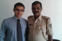 Police Inspector Raghava Padil and Dr Edmond Fernandes