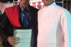 Fr Denis D'sa with Dr. Edmond Fernandes