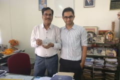 Mangalore University Librarian and Dr Edmond Fernandes