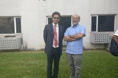 Dr. Edmond Fernandes with Sanjoy Hazarika