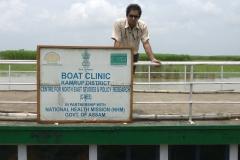 Dr Edmond Fernandes at the Boat Clinics