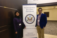 At the Professional Fellows Congress