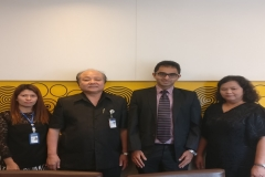 Dr Edmond and Mahidol University Officials