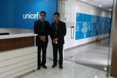Dr Edmond Fernandes in Unicef