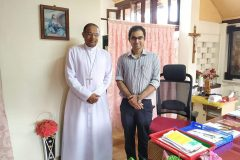 Dr. Edmond with Bishop of Mangalore