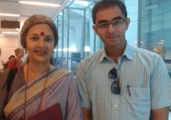Dr. Edmond with Mrs. Brinda Karat, CPIM Polit Bureau Member and Parliamentarian