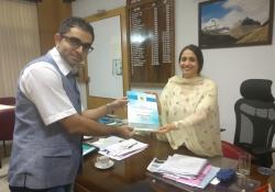 Shalini Rajneesh, IAS with Dr. Edmond Fernandes