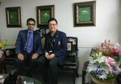 Dean, Chulalongkorn University with Dr. Edmond Fernandes