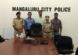 Dr. Edmond Fernandes, CEO, CHD Group with Mangalore Top Cops