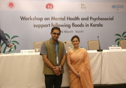 WHO SEARO Regional Adviser Dr. Nazneen Anwar with Dr. Edmond Fernandes, CEO, CHD Group