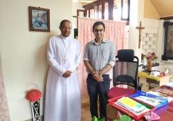 Bishop of Mangalore Rev Dr. Peter Paul with Dr. Edmond Fernandes