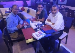 Prof. Chandan Ghosh, Dr. Edmond Fernandes and Dr. Ramachandra Kamath