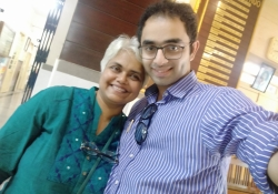 Dr. Edmond with Christina Mascarenhas at Don Bosco Matunga
