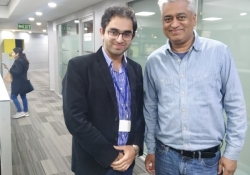 India Today Anchor Rajdeep Sardesai with Dr Edmond Fernandes at New Delhi
