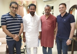 Union Minister of State for Home Affairs, Shri. Kishan Reddy with Dr. Edmond Fernandes, CEO, CHD Group