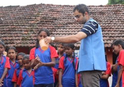 School Health Services where Dr. Edmond holds practical demonstration for WASH