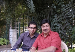 Film Actor Prannay Raj with Dr. Edmond Fernandes