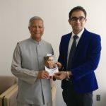Dr. Edmond with Noble Laureaute Prof. Muhammad Yunus, at the UN University in Japan.