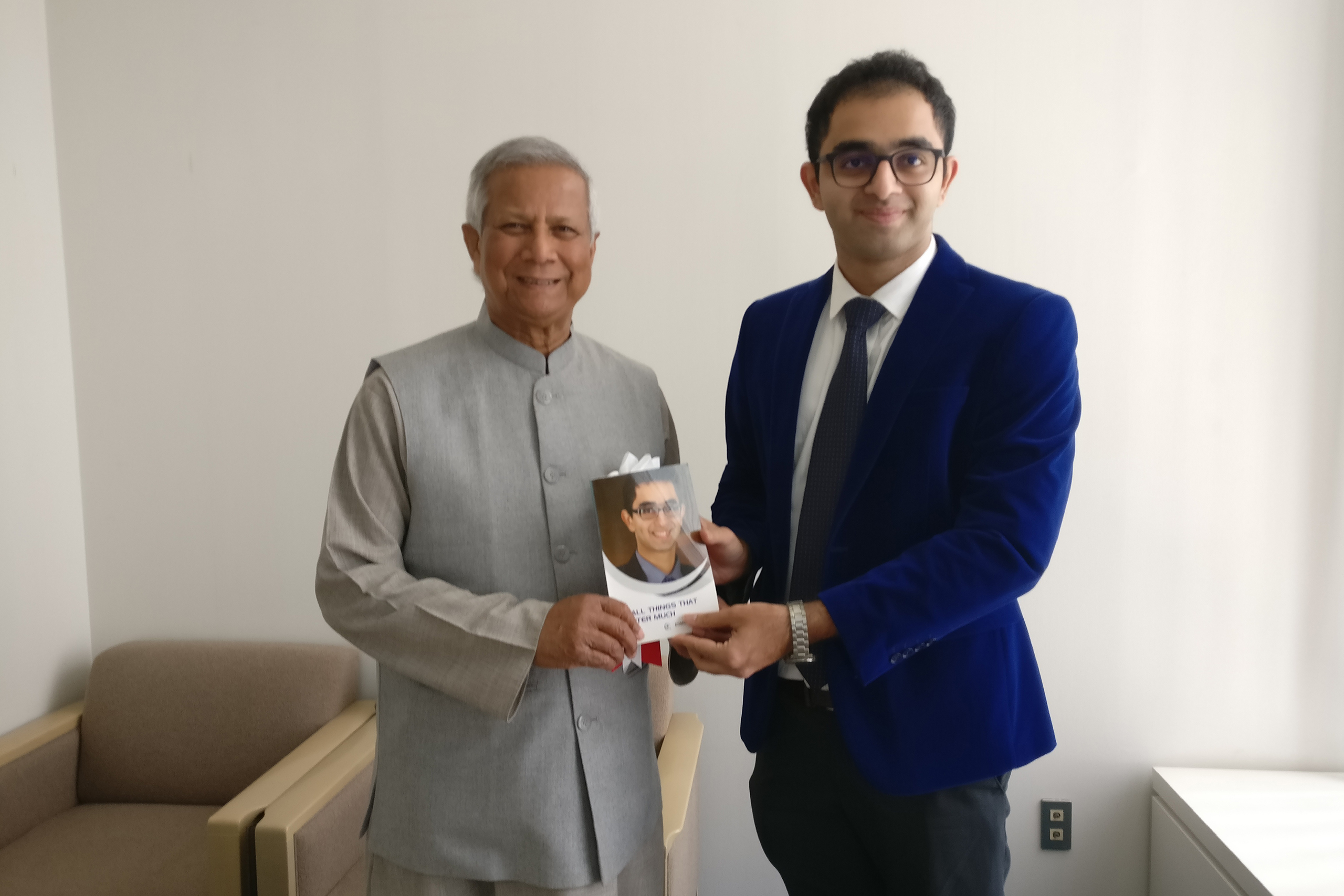 Dr. Edmond with Noble Laureaute Prof. Muhammad Yunus, at the UN University in Japan.