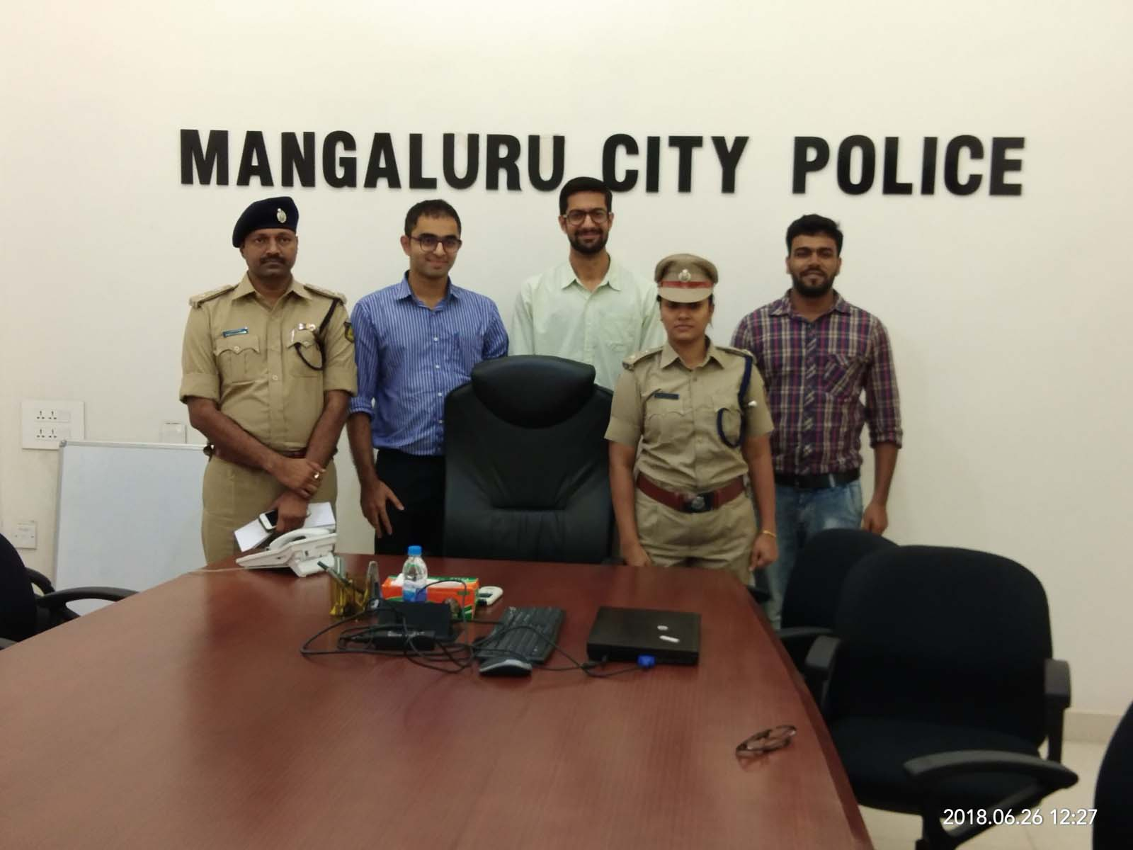 Dr. Edmond Fernandes, CEO, CHD Group with Mangalore Top Cops