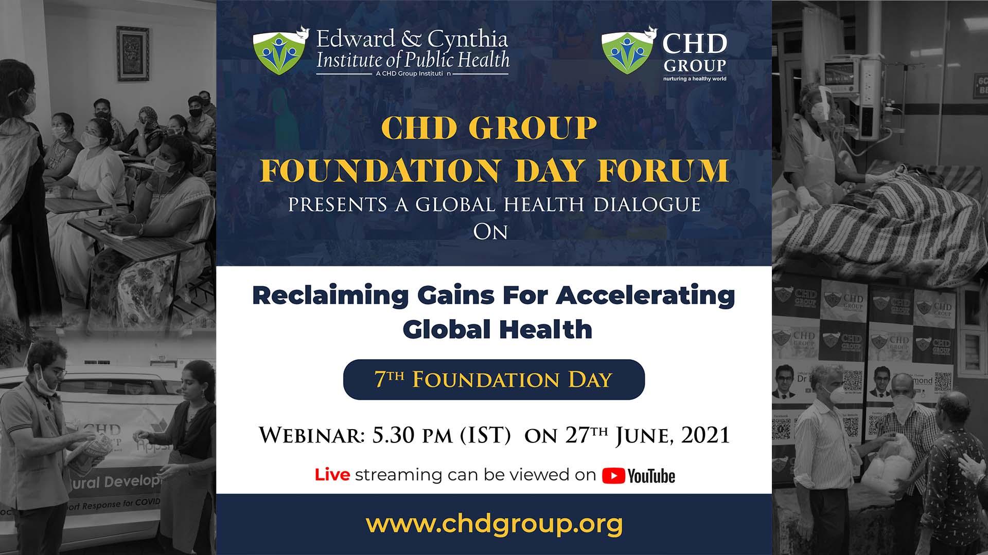 "webinar on ""Reclaiming Gains For Accelerating Global Health"""